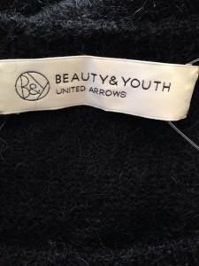 ビューティアンドユース ユナイテッドアローズ BEAUTY&YOUTH UNITEDARROWS 長袖セーター サイズF レディース 黒 メッシュ【中古】