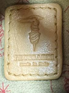 トラサルディー TRUSSARDI ショルダーバッグ レディース レッド×ライトブラウン ミニバッグ PVC(塩化ビニール)×レザー【中古】