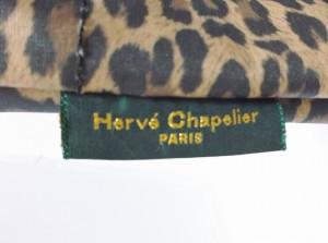 エルベシャプリエ Herve Chapelier ショルダーバッグ レディース ベージュ×ダークブラウン×黒 豹柄 ナイロン【中古】