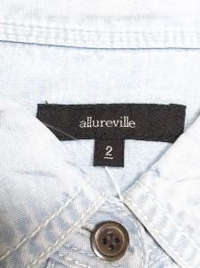 アルアバイル allureville 長袖シャツブラウス サイズ2 M レディース ライトブルー【中古】