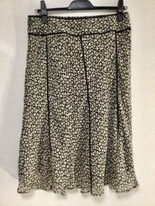 ジユウク 自由区/jiyuku スカート サイズ46 XL レディース 美品 アイボリー×黒【中古】