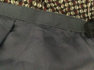 ニジュウサンク 23区 スカート サイズ48 XL レディース 黒×ライトグレー×マルチ【中古】