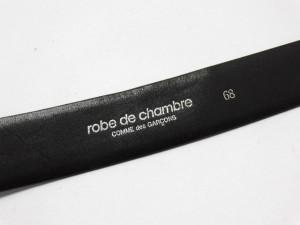 ローブドシャンブル コムデギャルソン ベルト 68 レディース 黒×シルバー レザー×金属素材【中古】