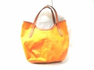 サンヒデアキミハラ SAN HIDEAKI MIHARA トートバッグ レディース オレンジ×ブラウン レザー【中古】
