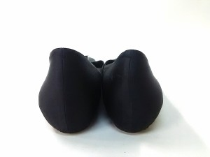 アンテプリマ ANTEPRIMA パンプス 24 レディース 黒×クリア リボン/インヒール サテン×プラスチック【中古】