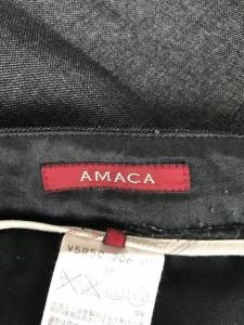 アマカ AMACA パンツ サイズ36 S レディース ダークグレー【中古】
