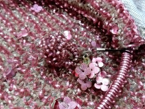 アンテプリマ ANTEPRIMA ハンドバッグ レディース ワイヤーバッグ ピンク 化学繊維×ワイヤー【中古】