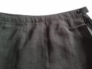 ニジュウサンク 23区 巻きスカート サイズ38 M レディース 美品 ダークグレー【中古】