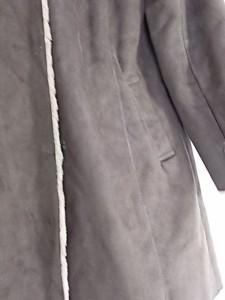 ジュエルチェンジズ Jewel Changes コート サイズ40 M レディース 美品 ダークブラウン×ベージュ 冬物/フェイクムートン【中古】