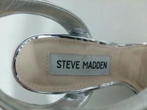 スティーブマッデン STEVE MADDEN サンダル 5M レディース 美品 シルバー レザー【中古】