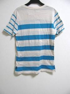 ポールスミスジーンズ PaulSmithJEANS 半袖Tシャツ サイズS レディース アイボリー×ライトブルー ボーダー【中古】