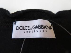 ドルチェアンドガッバーナ DOLCE&GABBANA 半袖Tシャツ サイズ3(I) メンズ 黒 UNDERWEAR【中古】