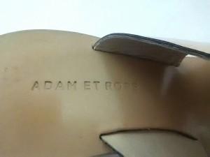 アダムエロペ Adam et Rope ミュール 36 レディース ゴールド ビニール【中古】