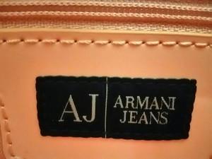 アルマーニジーンズ ARMANIJEANS トートバッグ レディース ピンク PVC(塩化ビニール)×プラスチック【中古】