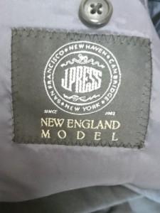 ジェイプレス J.PRESS シングルスーツ メンズ ダークグレー ネーム刺繍【中古】