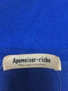 アプワイザーリッシェ Apuweiser-riche カーディガン レディース ブルー【中古】