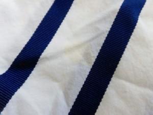 サカイラック sacai luck 長袖カットソー サイズ1 S レディース 白×ブルー×グリーン ボーダー/一部ニット【中古】