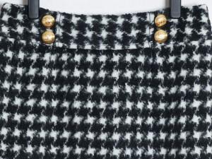 ジューシークチュール JUICY COUTURE スカート サイズ6 M レディース 美品 黒×白 千鳥格子【中古】