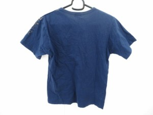 ポールスミスジーンズ PaulSmithJEANS 半袖Tシャツ サイズM レディース ネイビー×ブラウン×マルチ 花柄【中古】