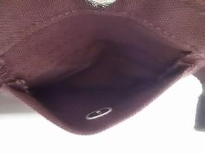 イチザワシンザブロウハンプ 一澤信三郎帆布 2つ折り財布 レディース ダークパープル キャンバス【中古】