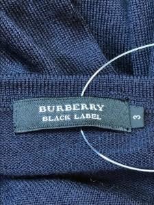 バーバリーブラックレーベル Burberry Black Label 長袖セーター サイズ3 L メンズ ダークグレー×グレー 千鳥格子【中古】