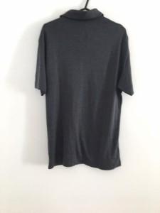 ゼニア ErmenegildoZegna 半袖ポロシャツ サイズ48 XL メンズ 美品 ダークグレー シルク混【中古】