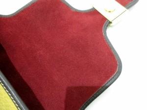 ロエベ LOEWE ショルダーバッグ レディース 美品 グラナダ イエロー×ダークブラウン×グリーン レザー×エナメル(レザー)【中古】