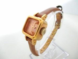 ズッカ ZUCCA 腕時計 CARAMEL Y150-0BN0 レディース 革ベルト ベージュ【中古】