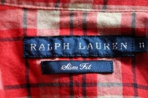 ラルフローレン RalphLauren 長袖シャツブラウス サイズ11 M レディース 美品 レッド×アイボリー×黒 チェック柄【中古】