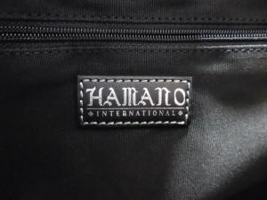 ハマノ Hamano トートバッグ レディース 黒 スエード×レザー【中古】