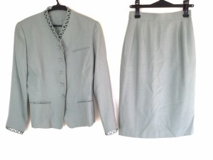 コーガマリコ MARIKO KOHGA スカートスーツ レディース ライトグリーン 肩パッド【中古】