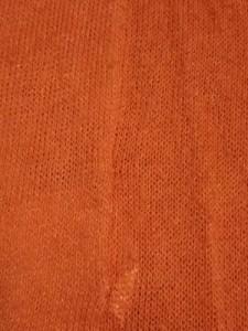 アルマーニコレッツォーニ ARMANICOLLEZIONI カーディガン サイズ38 S レディース サーモンピンク×アイボリー ラメ【中古】