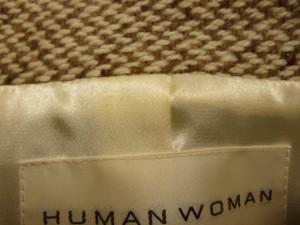 ヒューマンウーマン HUMAN WOMAN コート サイズ2 M レディース ライトブラウン×アイボリー 冬物【中古】