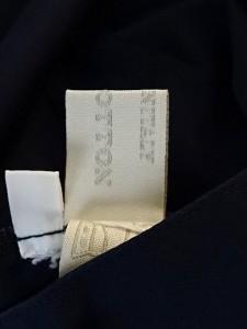 ミュウミュウ miumiu ノースリーブシャツブラウス サイズ38 S レディース ネイビー フリル【中古】