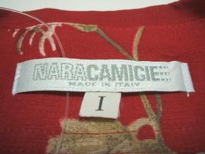 ナラカミーチェ NARACAMICIE 長袖シャツブラウス サイズ1 S レディース レッド×ベージュ×マルチ 花柄/シースルー【中古】
