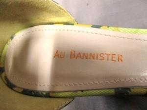 オウバニスター Au BANNISTER サンダル 35 レディース イエロー×グリーン×オレンジ 花柄/ウェッジソール キャンバス【中古】