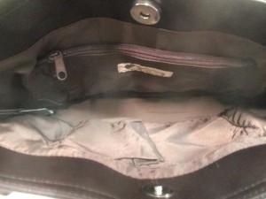 リズリサ LIZLISA トートバッグ レディース ブラウン×ダークブラウン リボン 合皮×フェイクファー【中古】