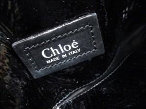 クロエ Chloe トートバッグ レディース - 黒 エナメル(レザー)【中古】