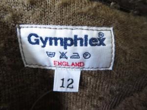 ジムフレックス Gymphlex ブルゾン サイズ12 L レディース ダークブラウン ジップアップ/ボア【中古】