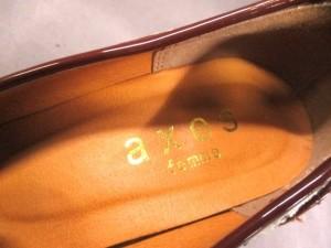 アクシーズファム axes femme パンプス S レディース ダークブラウン×マルチ 天然繊維×エナメル(合皮)【中古】