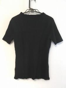 クレージュ COURREGES 半袖セーター サイズ38 M レディース 美品 黒 ビーズ/ラメ【中古】
