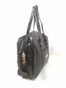 リズリサ LIZLISA ハンドバッグ レディース 美品 黒 doll 合皮【中古】