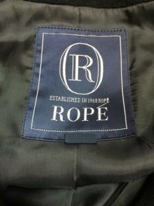 ロペ ROPE コート サイズ7AR S レディース 黒 冬物【中古】