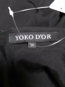 ヨーコドール YOKO D'OR ワンピース サイズ38 M レディース 美品 黒【中古】