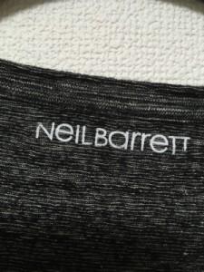 ニールバレット NeilBarrett 長袖カットソー メンズ 黒×グレー【中古】
