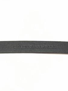 バレンシアガ BALENCIAGA ベルト レディース 235741 黒×シルバー レザー×金属素材【中古】