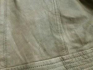 ブージュルード Bou Jeloud ライダースジャケット サイズ38 M レディース ベージュ レザー/キルティング/冬物【中古】
