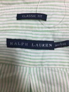 ラルフローレン RalphLauren 長袖シャツブラウス サイズ2 S レディース 美品 白×ライトグリーン ストライプ【中古】