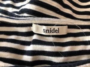 スナイデル snidel ワンピース サイズ0 XS レディース 美品 黒×白 ボーダー【中古】