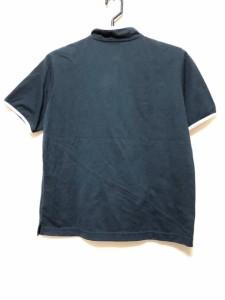 マンシングウェア Munsingwear 半袖カットソー レディース 美品 ネイビー×白×マルチ【中古】